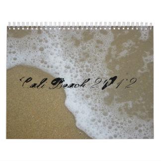 2012 calendario, playa de Cali Calendario De Pared