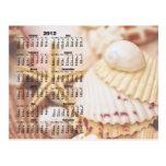 2012 calendario - postal del Seashell