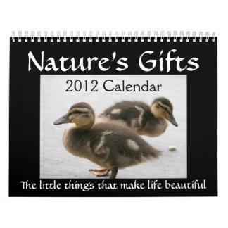 """2012 """"calendarios de los regalos de la naturaleza"""" calendarios de pared"""