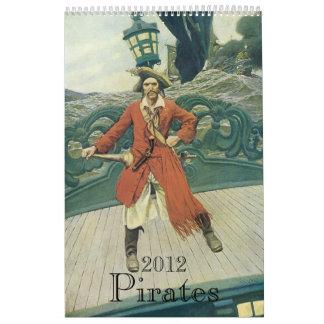 ¡2012 calendarios piratas del vintage