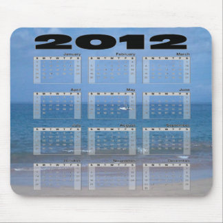 2012 Calender Mouse Pad