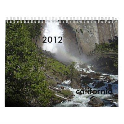 2012 California Calendar