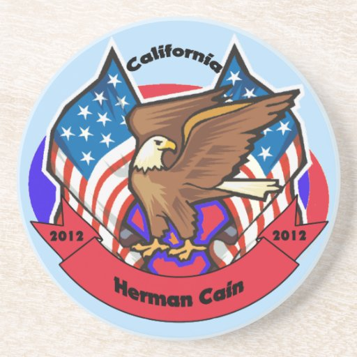 2012 California for Herman Cain Drink Coasters