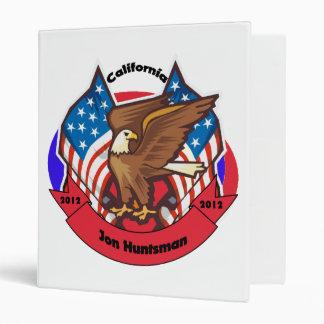 2012 California for Jon Huntsman 3 Ring Binder