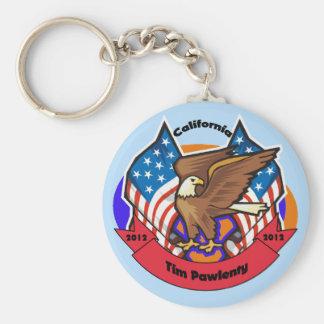2012 California for Tim Pawlenty Basic Round Button Keychain