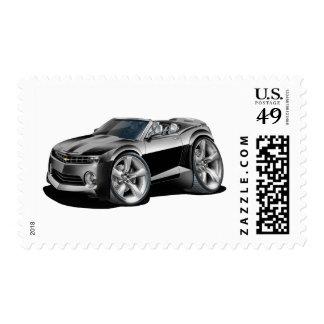 2012 Camaro Black-Grey Convertible Postage