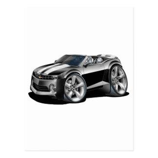 2012 Camaro Black-White Convertible Postcard