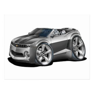 2012 Camaro Grey-Black Convertible Postcard