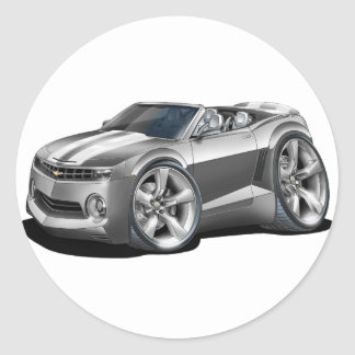 2012 Camaro Grey-White Convertible Classic Round Sticker