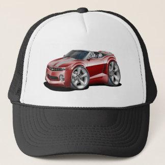 2012 Camaro Maroon-Grey Convertible Trucker Hat