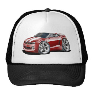 2012 Camaro Maroon-White Convertible Trucker Hat
