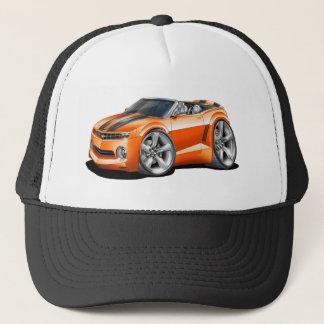 2012 Camaro Orange-Black Convertible Trucker Hat