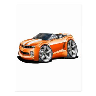 2012 Camaro Orange-White Convertible Postcard