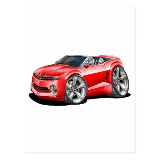 2012 Camaro Red Convertible Postcard