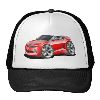 2012 Camaro Red-Grey Convertible Trucker Hat
