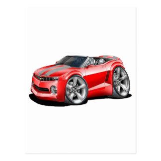 2012 Camaro Red-Grey Convertible Postcard