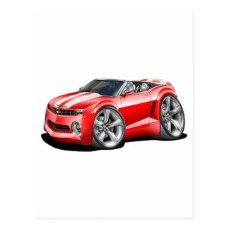 2012 Camaro Red-White Convertible Postcard