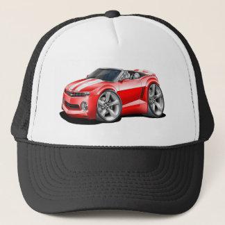 2012 Camaro Red-White Convertible Trucker Hat
