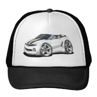 2012 Camaro White-Black Convertible Trucker Hat
