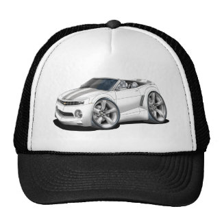 2012 Camaro White-Grey Convertible Trucker Hat
