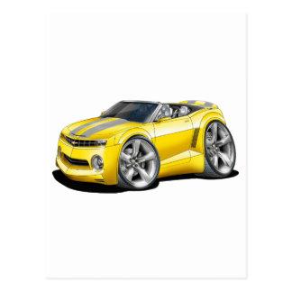 2012 Camaro Yellow-Grey Convertible Postcard