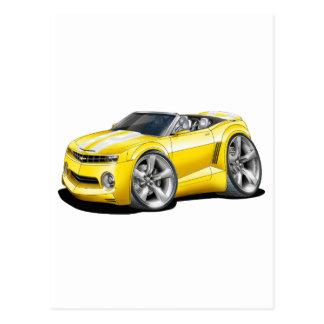 2012 Camaro Yellow-White Convertible Postcard