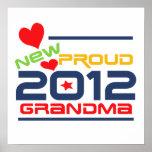 2012 camisetas y regalos orgullosos de la abuela posters