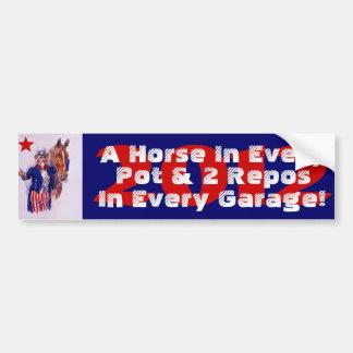"2012 Campaign Slogan PSS ""A Horse In Every Pot & 2 Bumper Sticker"