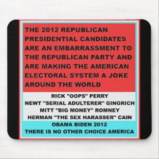 2012 candidatos republicanos son una vergüenza tapete de ratones