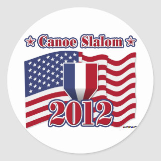 2012 Canoe Slalom Classic Round Sticker