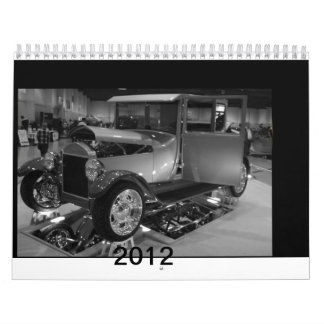 2012 Cars of yesterday in black and white Calendar