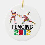 2012: Cercado del ornamento Ornamento Para Arbol De Navidad