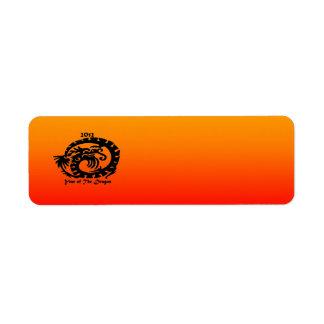 2012 Chinese New Year Dragon Return Address Label