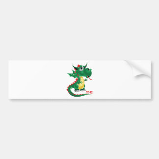 2012 Chinese New Year, The Year of The Dragon Bumper Sticker