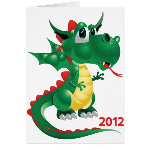 2012 Chinese New Year, The Year of The Dragon Greeting Card