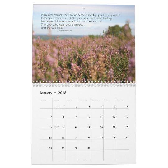 2012 Christian calendar: Prayers of the Bible Calendar