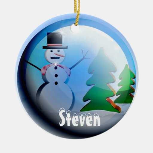 2012 Christmas Snow Globe Ornament