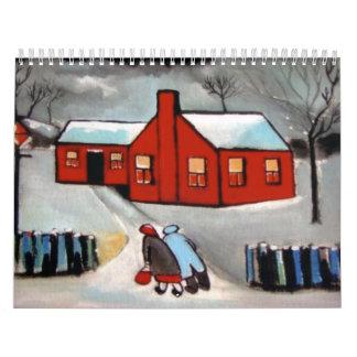 2012 Claendar images the little red house snowsce Calendar