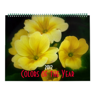 2012 Colors of the Year Calendar