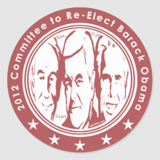 2012 Committee to Re Elect Barack Obama Classic Round Sticker