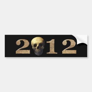 2012 con el cráneo pegatina para auto