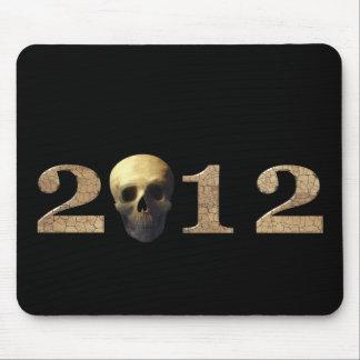 2012 con el cráneo tapete de raton