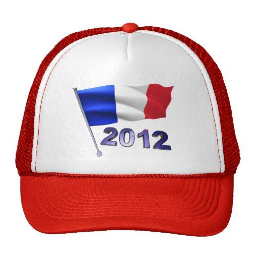 2012 con la bandera francesa gorras de camionero