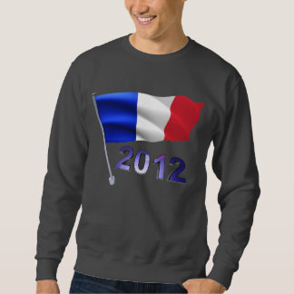 2012 con la bandera francesa sudadera con capucha