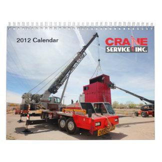 2012 Crane Service, Inc Calendar