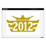 "2012-Crown-2.png 15"" Laptop Decal"
