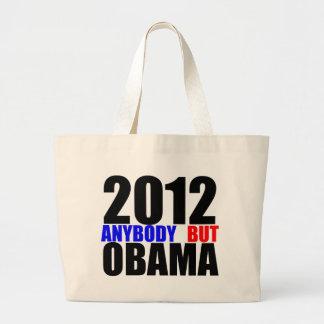 2012: Cualquiera pero Obama Bolsas Lienzo