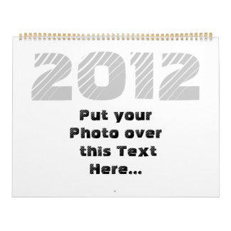 2012 Customizable Calendar