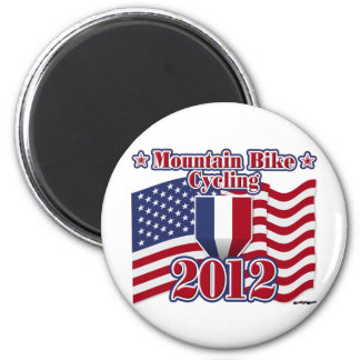 2012 Cycling Mountain Bike 2 Inch Round Magnet