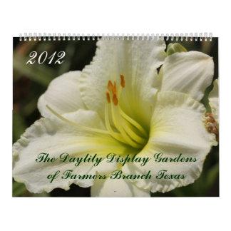 2012 Daylily Display Gardens of Farmers Branch TX Calendar